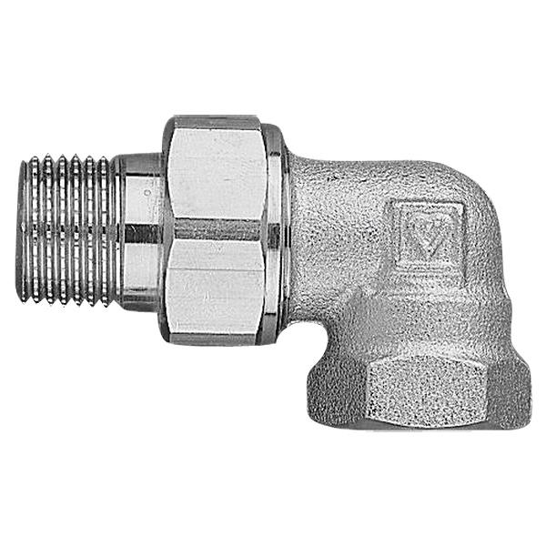HERZ threaded radiator connection - angle model