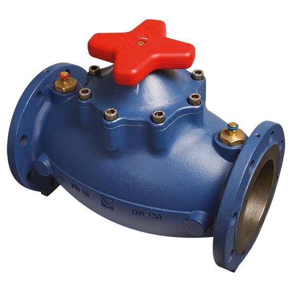 Балансировочный клапан STRÖMAX-GMF, с возможностью измерения перепада давления, фланцевое исполнение, шпиндель прямой, с измерительными клапанами