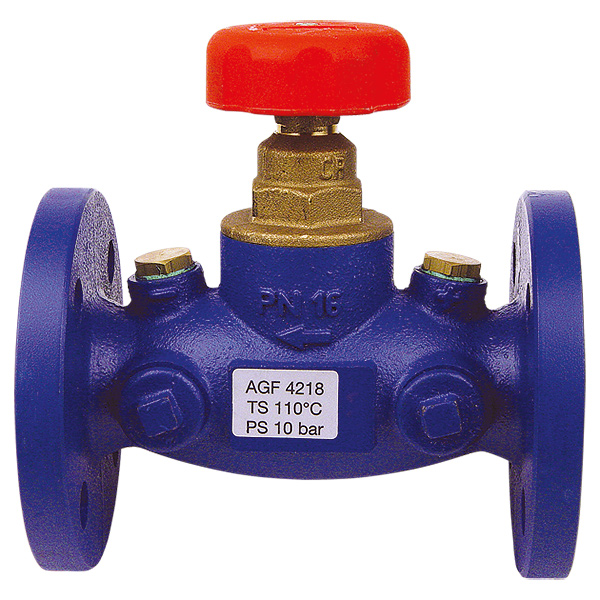 STRÖMAX-AGF shutoff valve with straight body, flanged design
