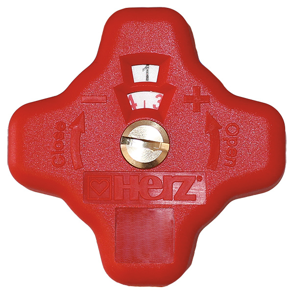 Replacement hand wheel, red, for 4017
