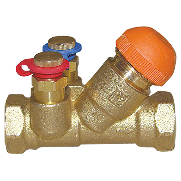 HERZ control and regulating valve, inclined body