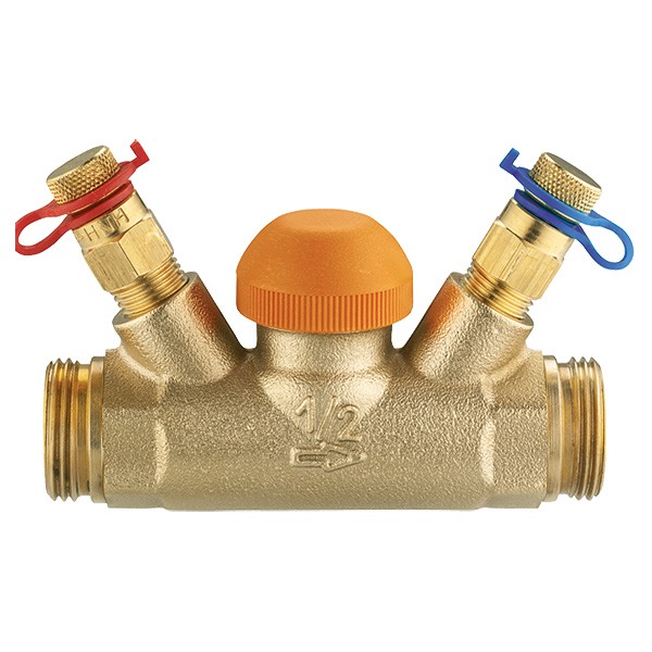 Thermostatic control valve TS-98-V, straight body with test points, G (male thread)
