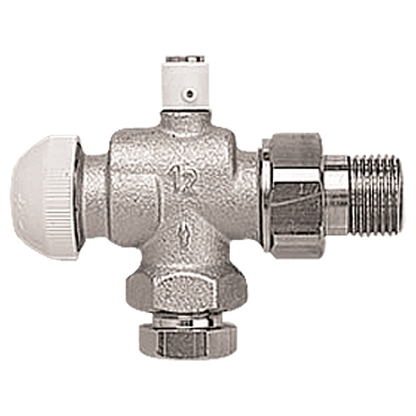 HERZ-TS-90 thermostatic valve, reverse angle model with air vent