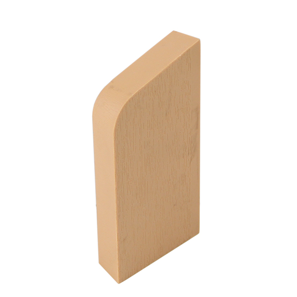 Plastic skirting board system – Finishing cover, right