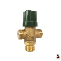 HERZ drinking water mixing valve TMV with side mixing outlet