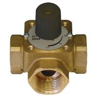 Three-way mixing valve with handle
