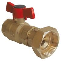 Kugelhahn für Pumpe mit Rückschlagventil, PN 25
