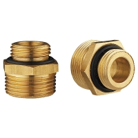 HERZ connection nipple, conical seal, set of 2