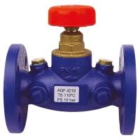 STRÖMAX-AGF shutoff valve with straight body, flanged design