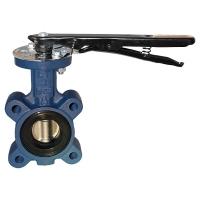 ГЕРЦ-запорно-регулирующая заслонка, корпус из чугуна, диск заслонки - нержавеющая сталь