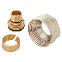 Plastic pipe connections G 1 for PE-X, PB and aluminium composite pipes