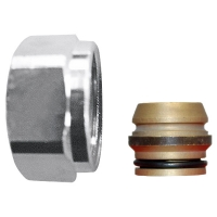 Compression adapter metallic seal