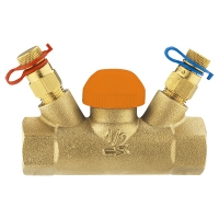 Thermostatic control valve TS-98-V, straight body with test points, Rp (female thread)