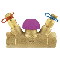 Thermostatic control valve TS-99-FV, straight body with test points, Rp (female thread)