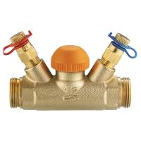 Термостатический регулирующий клапан TS-98-V, с прямым шпинделем, с встроенными измерительными клапанами, G (наружная резьба)