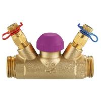 Термостатический регулирующий клапан TS-99-FV, с прямым шпинделем, с встроенными измерительными клапанами, G (наружная резьба)