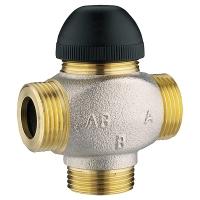 Трёхходовой термостатический клапан для смешивания и распределения, подключение с трех сторон
