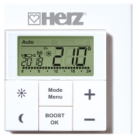 Wireless wall thermostat