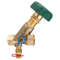 STRÖMAX-MW балансировочный клапан с наклонным шпинделем и резьбовыми муфтами, с измерительными клапанами, Rp (внутренняя резьба)
