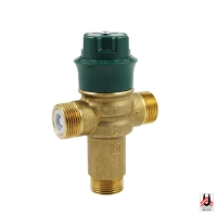 HERZ drinking water mixing valve TMV 2 with bottom mixing outlet