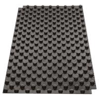 Noppenplatte, schwarz aus Polystyrol