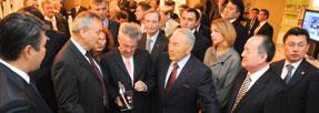 Доктор Глинцерер с Президентом Республики Казахстан Назарбаевым