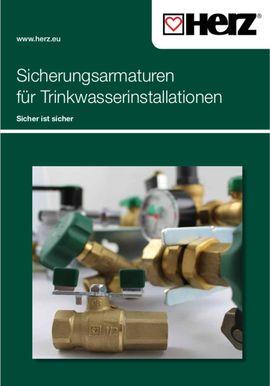 Sicherungsarmaturen für Trinkwasserinstallationen