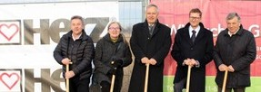 Groundbreaking ceremony of the new logistic center in Günselsdorf