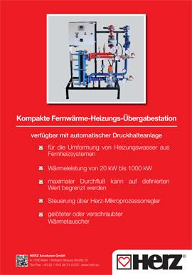 Fernwärme- Übergabestation