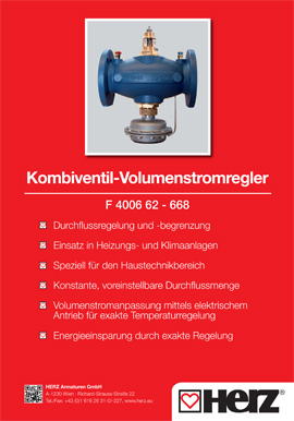 Kombiventil Volumenstromregler